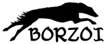 Running Borzoi w/Text