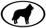 Belgian Sheepdog Oval Bumper Stickers