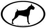 Boxer Dog Breed Oval Sticker Selections