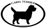 Cairn Terrier Dog Oval Sticker Selections