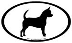 Chihuahua Dog Breed Oval Car Stickers