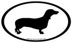 Dachshund Dog Breed Oval Stickers