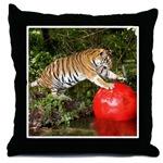 Tiger Auroara Throw Pillows