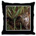 Fishing Cat Throw Pillows