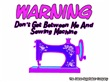 Warning Sewing Machine