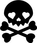 Black Heart Skull