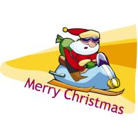 Santa Snowmobile Christmas T-Shirts Gifts