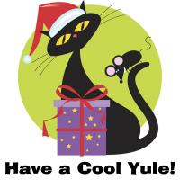 Have a Cool Yule! Santa Cat T-Shirts Gifts