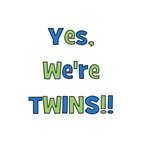 Yes, We're Twins! Blue & Green