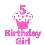5 Cupcake Birthday Girl