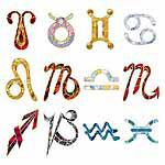 Stain Glass Horoscope Signs