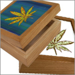 Cannabis Leaf Jewelry Boxes