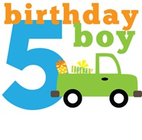 Truck Birthday Boy 5