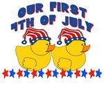 DUCKS 1st 4th of July TWINS