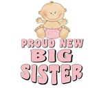 Proud New Big Sister T-shirt Design