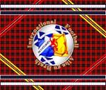 Scotland red tartan football
