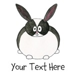 Dutch Rabbit. With Black Text.