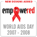 AIDS t-shirts. World AIDS Day December 1