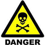 Danger - Poison skull & crossbones