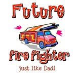 Future Firefighter just like Dad