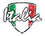 Italia distressed soccer shield