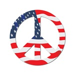 Peace Sign American Flag