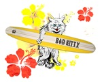 Rad Kitty Long Board Surfing 