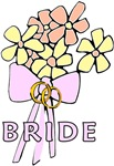 The Bride's Bouquet on Wedding Apparel, Totes & Te