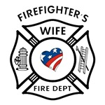 Patriotic Firefighter Wives Gifts &amp; Apparel personalized holiday gift ideas and birthday presents for firemen.