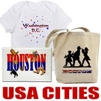 US Cities t-shirts and US Cities gifts