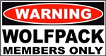 Warning Wolfpack Members Only
