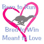 Born to Love Greyhound heart design