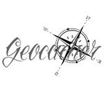 Geocacher with Compass
