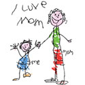 I Love My Mom T-Shirts T-Shirt Sizes for All