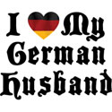 I Love My German Husband T-Shirt Gift