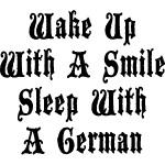 Funny German Sleep With A German T-Shirt