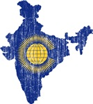 India Commonwealth Flag And Map