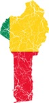 Benin Flag And Map