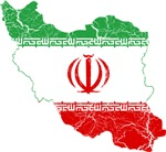 Iran Flag And Map