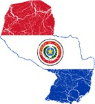 Paraguay Flag And Map