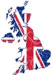 United Kingdom Flag And Map