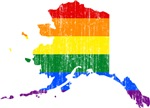 Alaska Rainbow Pride Flag And Map