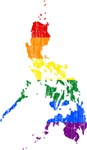 Philippines Rainbow Pride Flag And Map