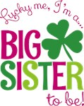 St. Patrick's Day Big Sister to be