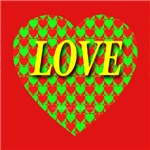 LOVE Xmas Heart of Hearts Red