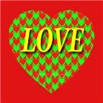 LOVE Xmas Heart of Hearts Red