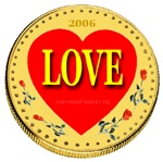 Illuminated LOVE Coin 2006