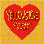 Yellowstone NP Golden Snowflake Heart