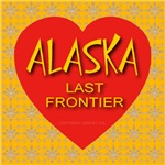 Alaska Last Frontier Golden Snowflake Heart