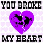 You Broke My Heart Pig Purple Passion
